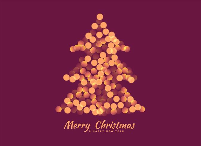 árbol de Navidad hecho con luces de bokeh de fondo