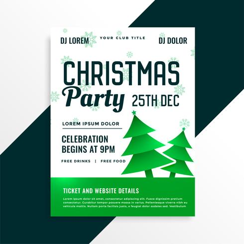 groene kerstboom met kerstfeest viering details