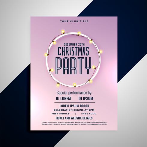 conception de flyer fête joyeux noël propre