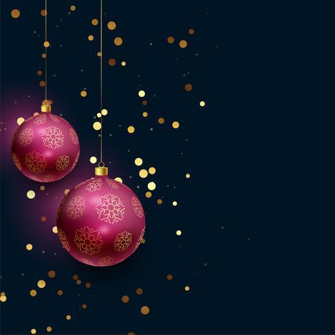 hermosas bolas de navidad 3d con brillo cayendo
