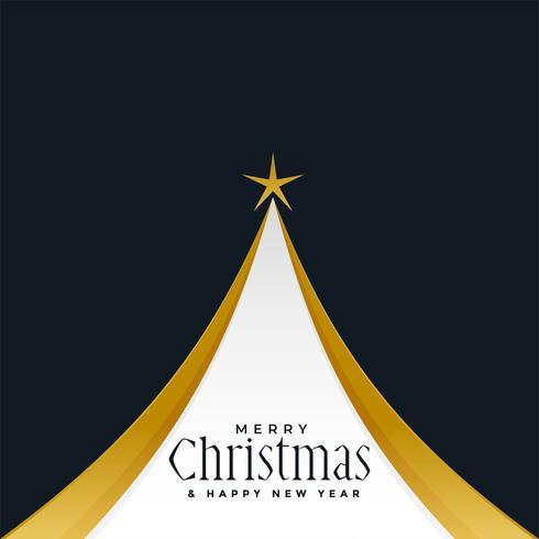 feliz navidad dorado arbol diseño de fondo