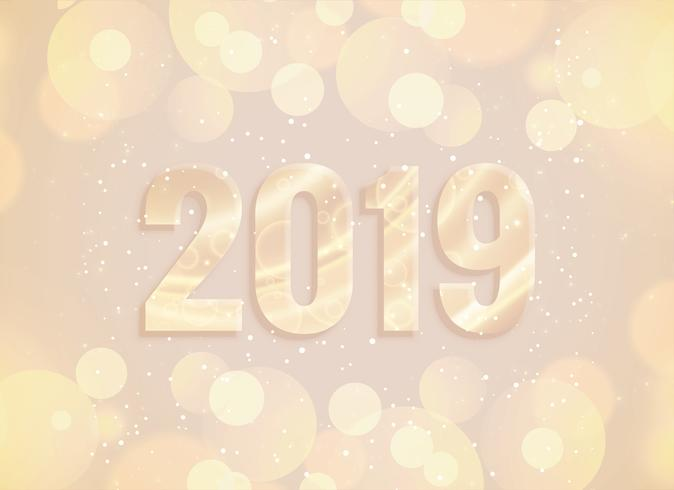 2019 new year bokeh and lights background