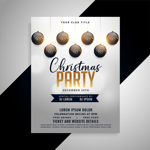 elegant christmas party flyer design template