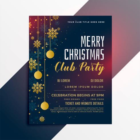 design volantino festa di buon Natale