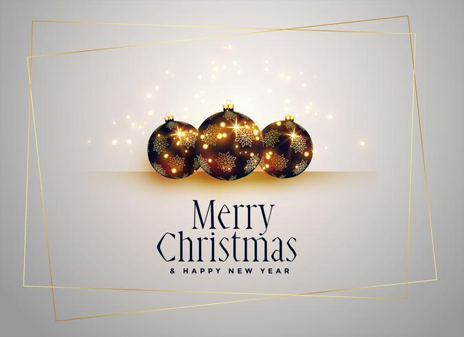 mooie kerstballen met gouden sparkles achtergrond