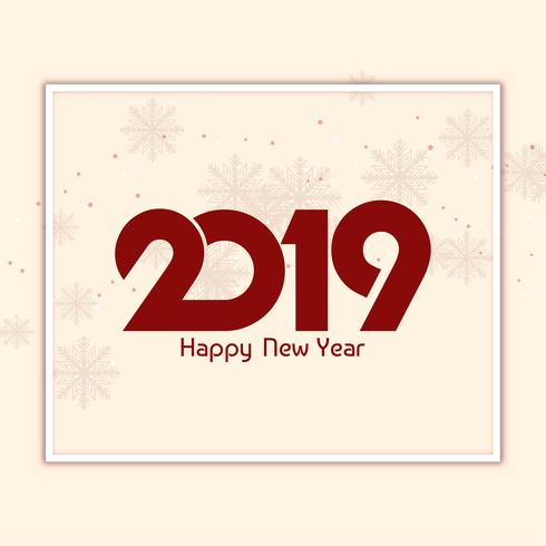 Abstract beautiful Happy New Year 2019 background
