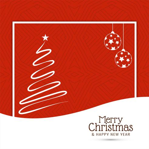 Fondo de feliz Navidad con diseño de árbol