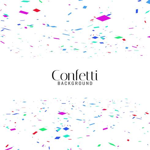 Abstract colorful confetti background vector
