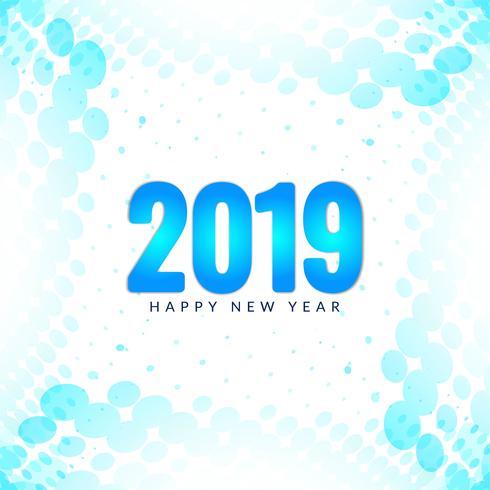 Bunter Grußhintergrund des guten Rutsch ins Neue Jahr 2019