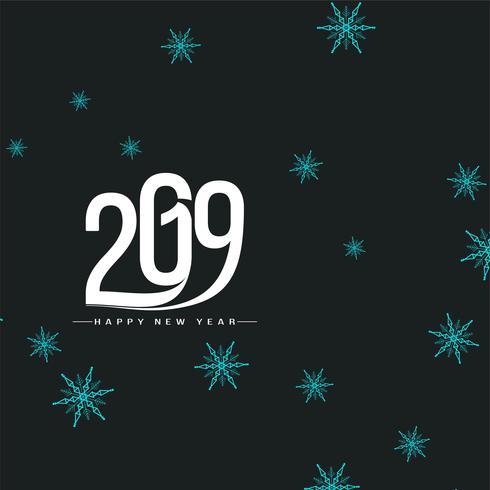 Beautiful Happy New Year 2019 background