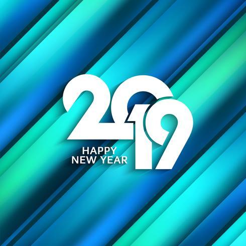 Abstrait joyeux nouvel an 2019 fond coloré