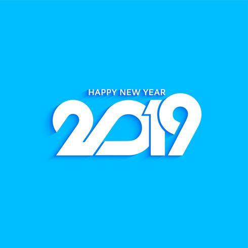 Resumen año nuevo 2019 texto diseño moderno fondo