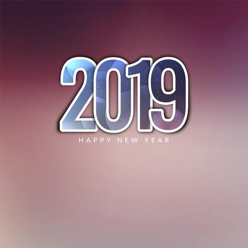 Abstract New Year 2019 beautiful background