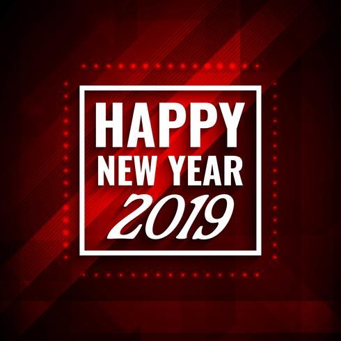 Gelukkig Nieuwjaar 2019 moderne achtergrond vector