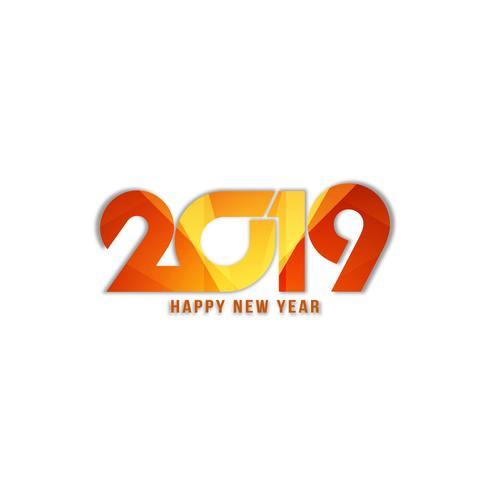 Abstrakter guten Rutsch ins Neue Jahr 2019 stilvoller Hintergrund vektor