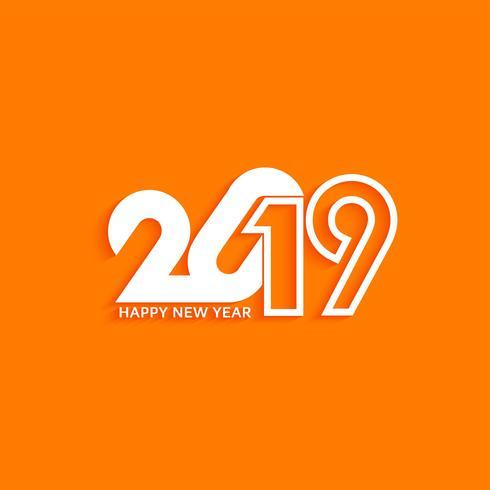 Abstrakter stilvoller Textdesignhintergrund des neuen Jahres 2019