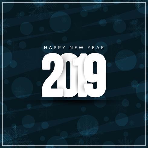Abstrakter stilvoller Grußhintergrund des neuen Jahres 2019