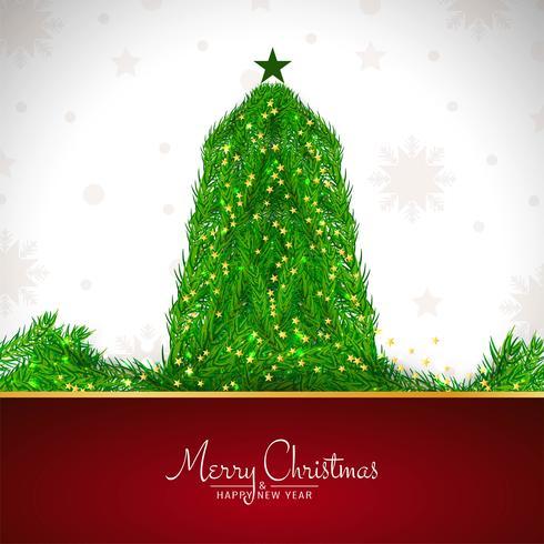 Vrolijke Kerstmis elegante decoratieve achtergrond