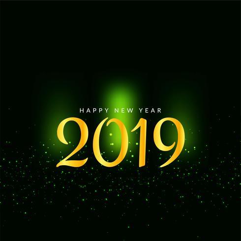 Happy New Year 2019 modern background