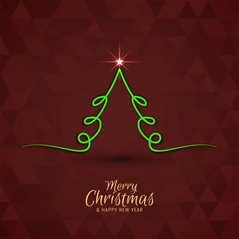 Fondo decorativo de la Feliz Navidad con diseño del árbol