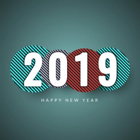 Bonne année 2019 fond moderne