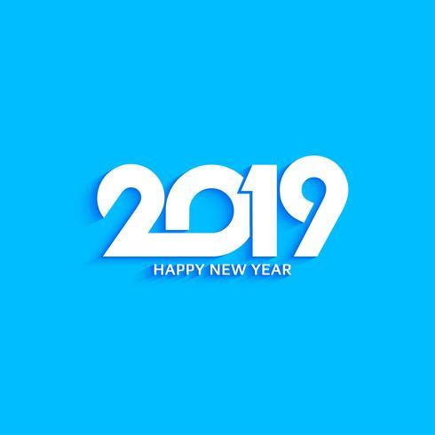 Abstrakt nytt år 2019 dekorativa textdesign bakgrund