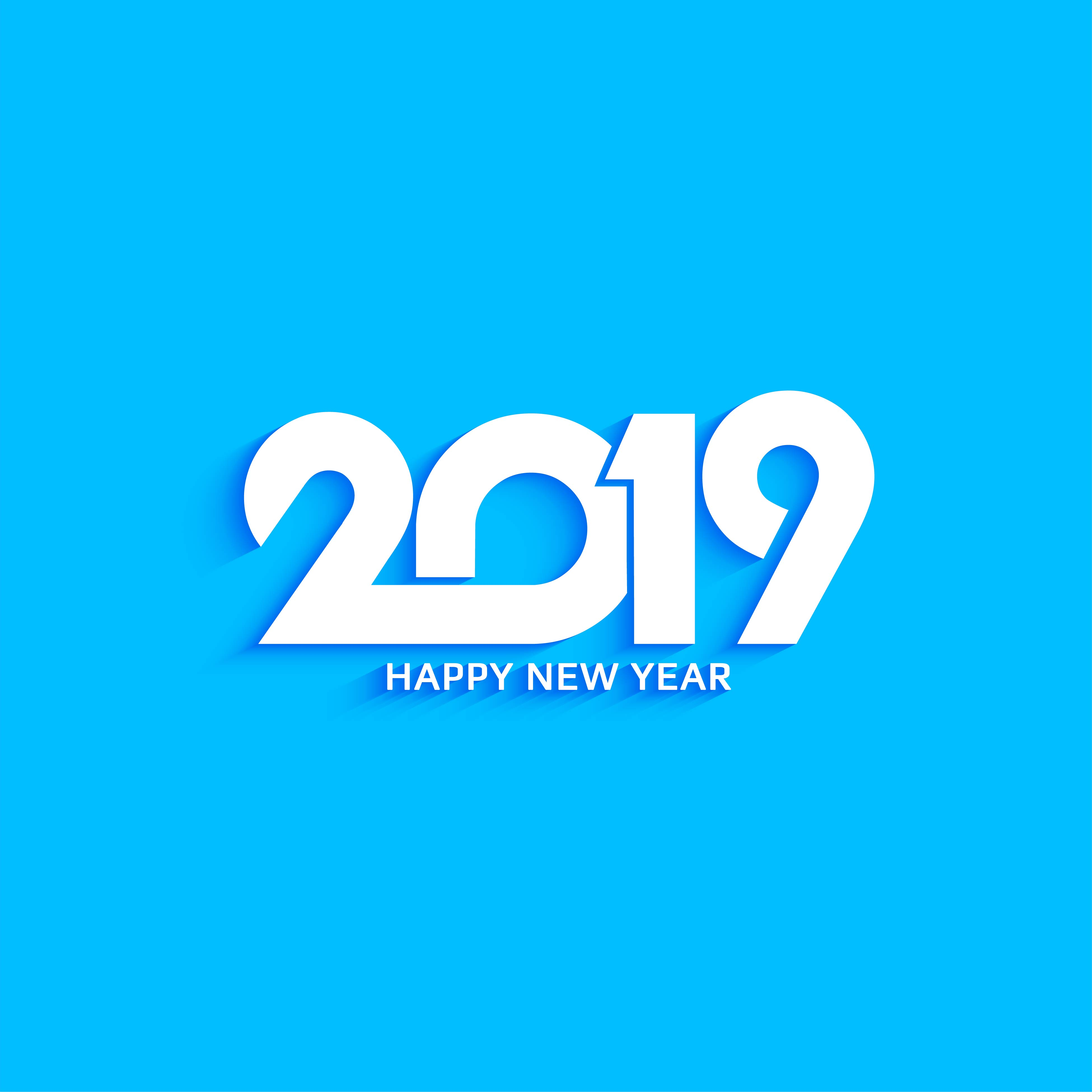 abstract new year 2019 decorative text design background download free vector art stock graphics images
