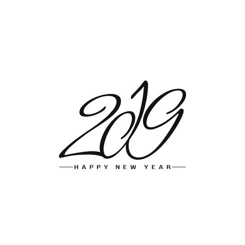 Happy New Year 2019 stylish text design background