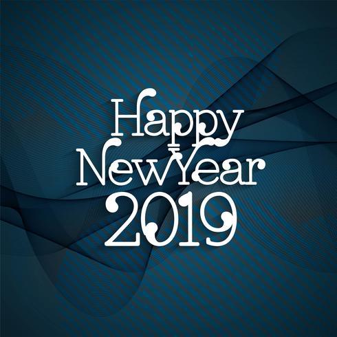 Fondo decorativo abstracto moderno año nuevo 2019