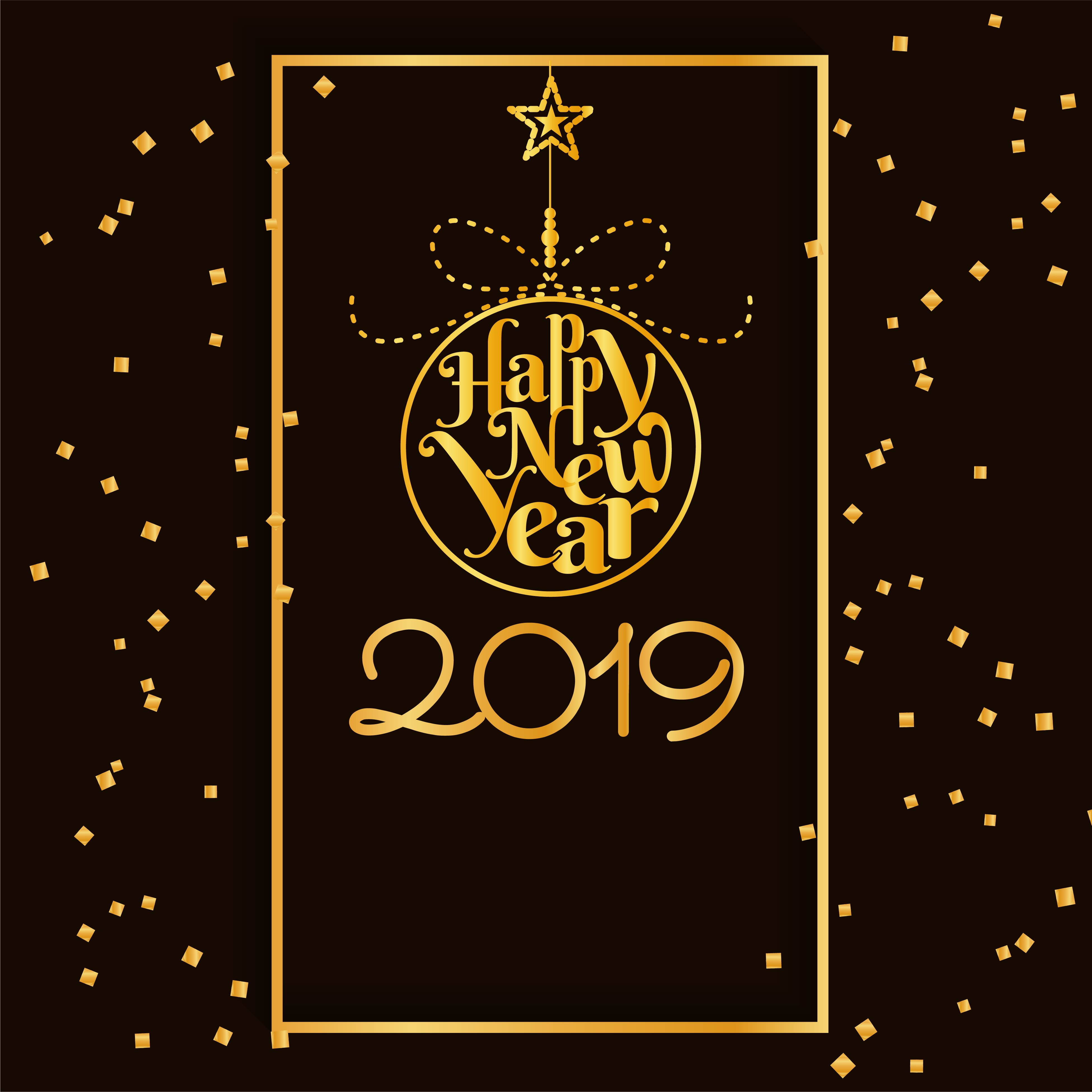 Happy New Year 2019 modern background - Download Free ...