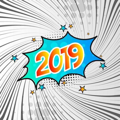 Abstrakter moderner Hintergrund des guten Rutsch ins Neue Jahr 2019 vektor