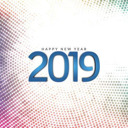 Dekorativer Hintergrund des guten Rutsch ins Neue Jahr 2019 vektor