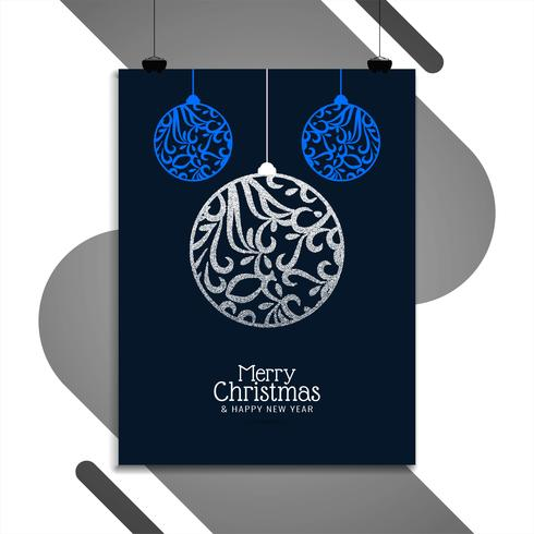 Plantilla de diseño de folleto de feliz Navidad abstracto