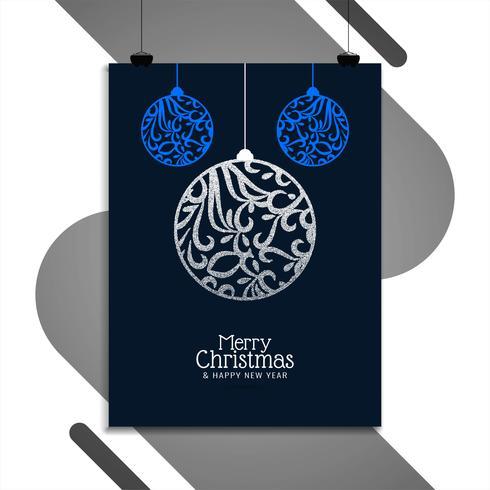 Abstracte Merry Christmas brochure ontwerpsjabloon