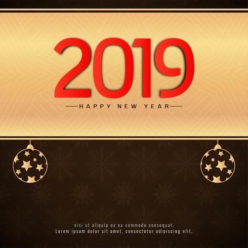 Fondo decorativo elegante año nuevo 2019
