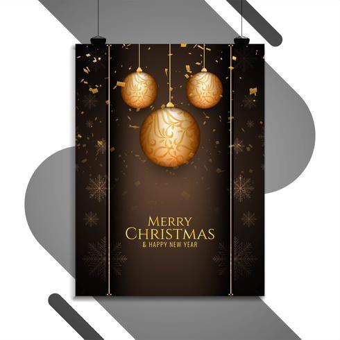 Modèle de brochure joyeux Noël célébration