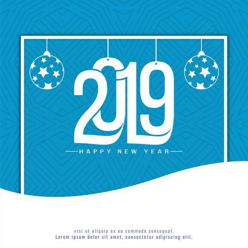 Eleganter dekorativer Hintergrund des neuen Jahres 2019 vektor