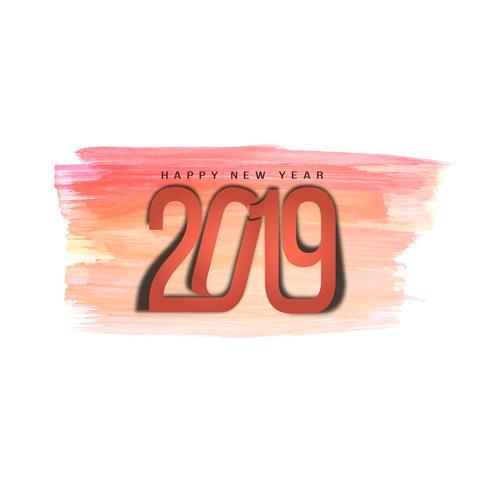 Fondo de saludo de año nuevo 2019 con estilo abstracto
