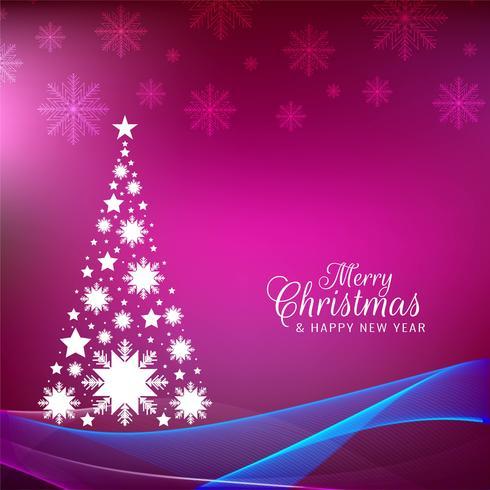 Abstrakter dekorativer Baumhintergrund der frohen Weihnachten vektor