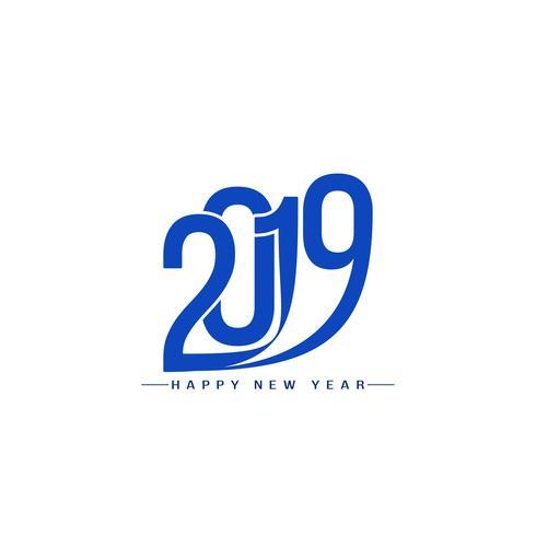 Text-Designhintergrund des guten Rutsch ins Neue Jahr 2019 stilvoller