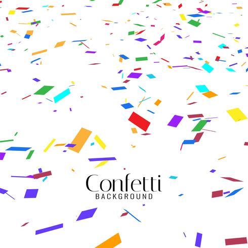 Abstrakt färgrik konfetti dekorativ bakgrund vektor