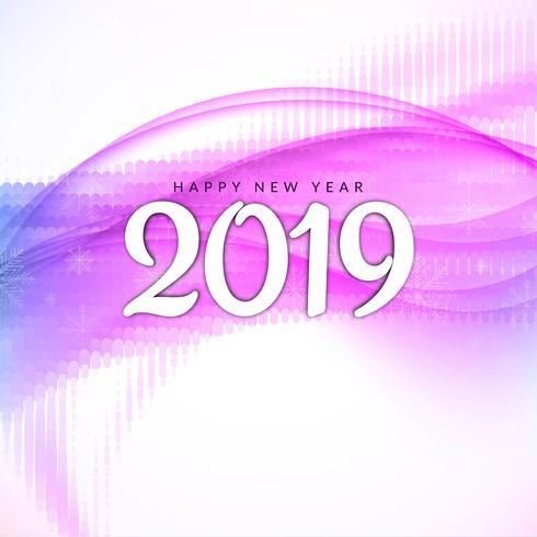 Guten Rutsch ins Neue Jahr 2019 moderner Hintergrund vektor