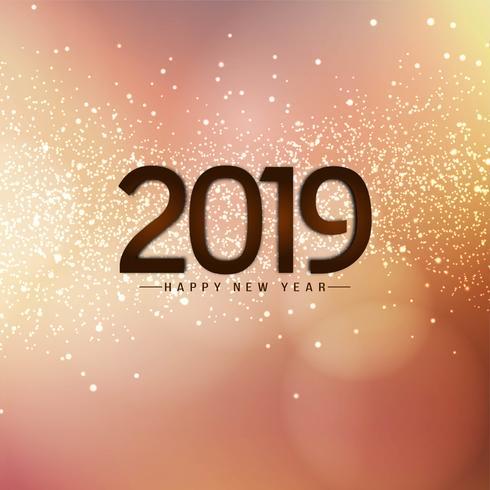 Eleganter moderner Hintergrund des neuen Jahres 2019