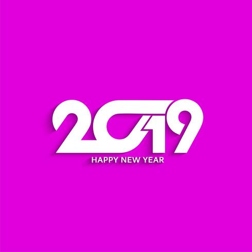 abstract new year 2019 text design modern background