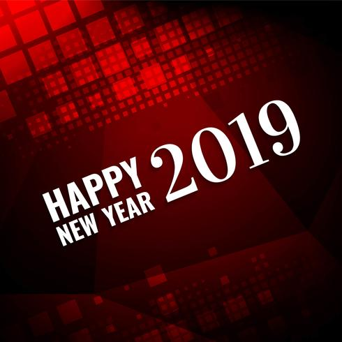 Stilvoller Grußhintergrund des guten Rutsch ins Neue Jahr 2019