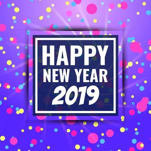 Fondo de saludo abstracto feliz año nuevo 2019