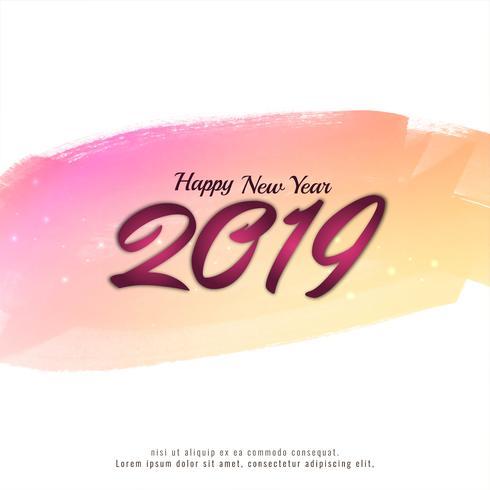 Elegant modernt nytt år 2019 bakgrund
