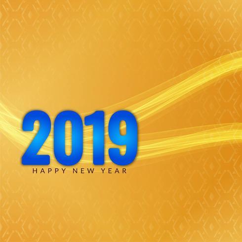 Feliz año nuevo fondo elegante saludo 2019
