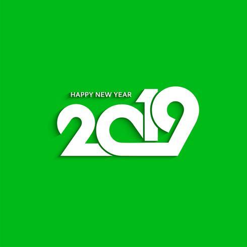 Fondo de diseño de texto con estilo abstracto de año nuevo 2019