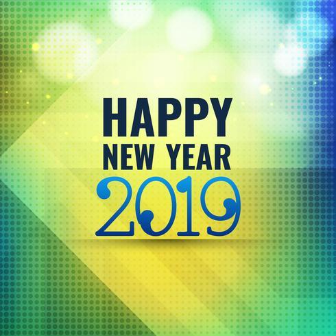 Abstrakter Feierhintergrund des neuen Jahres 2019